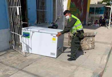 Policía entregó balance de los artículos recuperados durante saqueos al comercio en Ciénaga