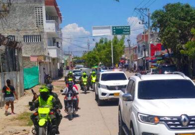 Administración Municipal y Policía Nacional recorrieron varios sectores comerciales recomendando no entrar en pánico ante falsos anuncios