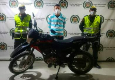 <strong>Uniformados en Ciénaga recuperan moto hurtada en la Zona Bananera