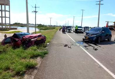 Accidente de tránsito entre los corregimientos de Palmira y Tasajera, dejó varias personas heridas